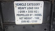 Load specification plate